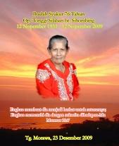 """X-banner"" Ibadah Syukur Ompu Tonggi"